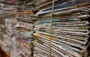 Turn newspaper and junk mail into fire bricks