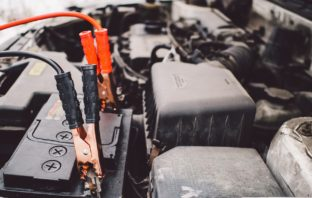 Converting a car battery into a power source