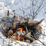 The right way to create fire in winter